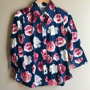 NY&Co Floral Button Down